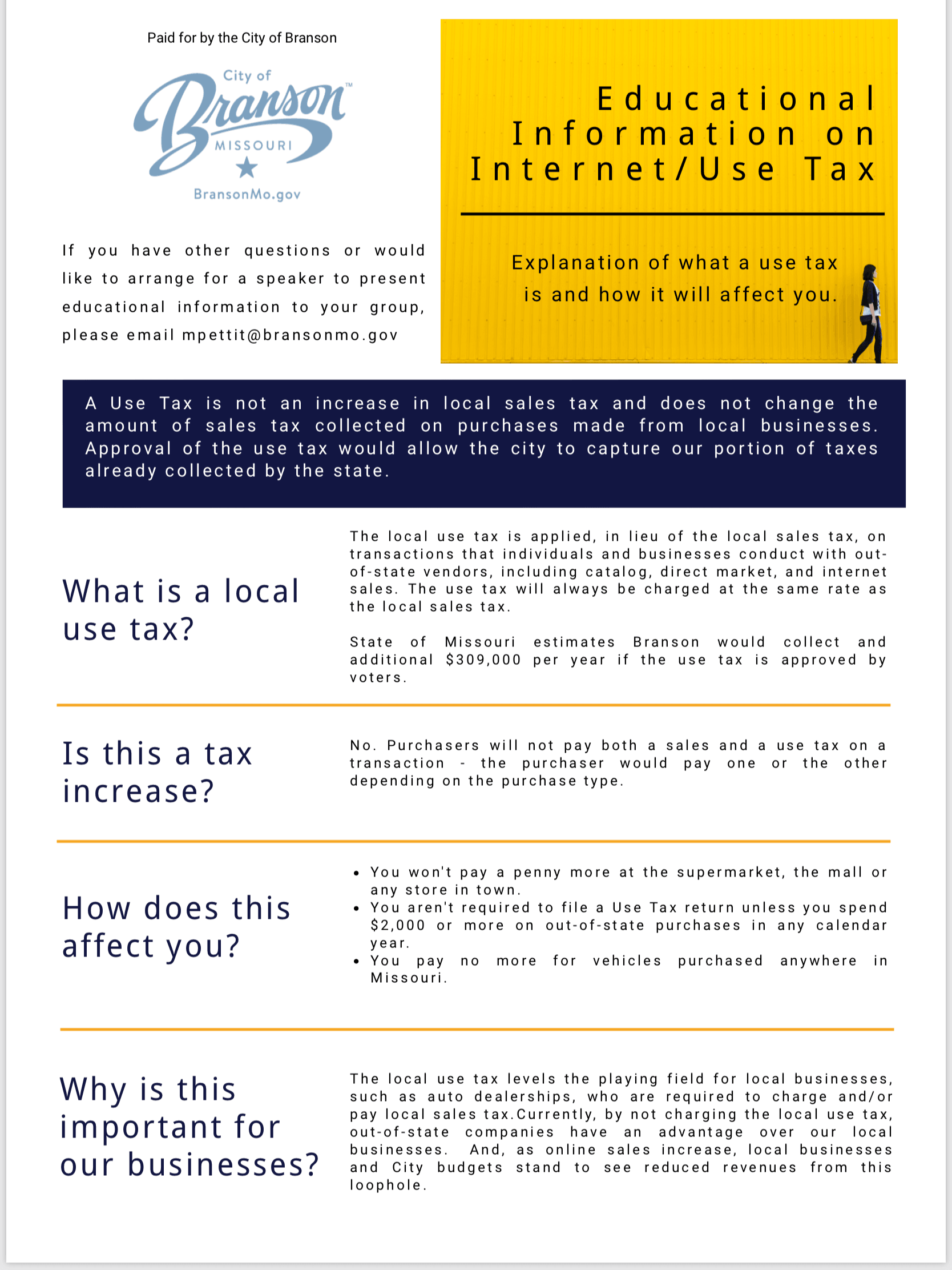 FAQ Use Tax 2017