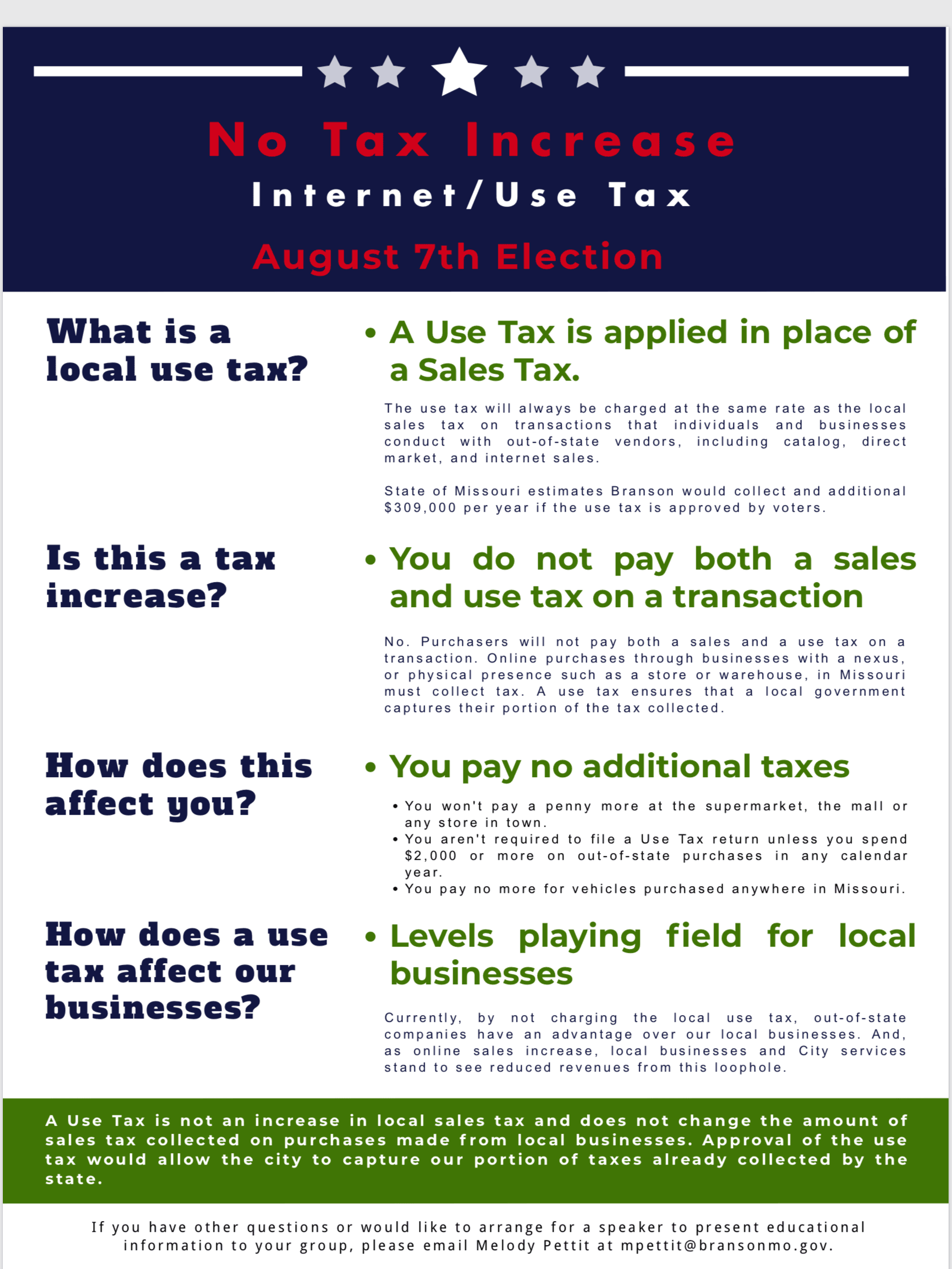 Use Tax Fact Sheet